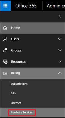 Office 365 Purchase Services