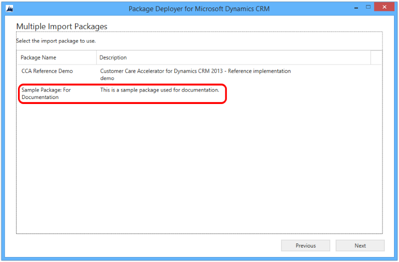 Deploy packages using Dynamics CRM Package Deployer and