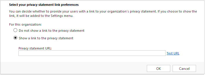 Replace privacy statement for the organization
