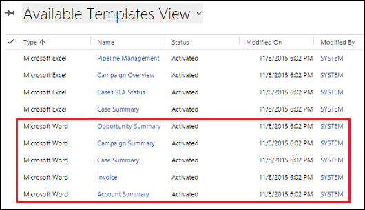 Microsoft Word Templates | Using Word Templates In Dynamics 365 For Customer Engagement Apps