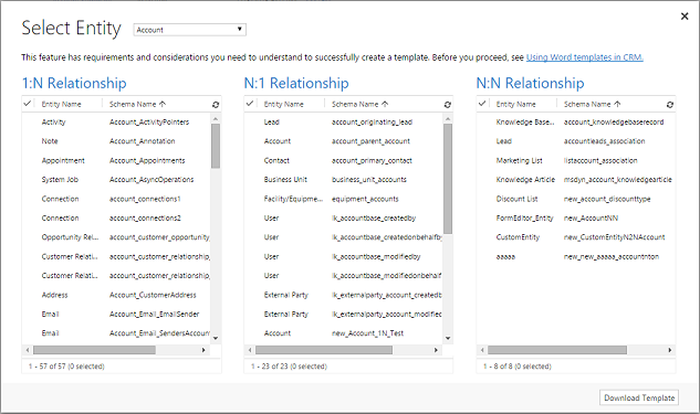 Using Word templates in Dynamics 365 Customer Engagement | Microsoft ...