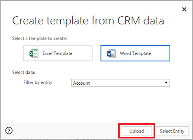 Document creation in msd 365 crm practice for Button template for word