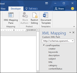 The default XML Mapping schema