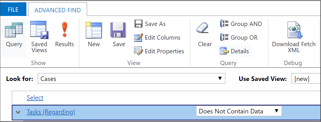 Create, edit, or save an Advanced Find search (Dynamics 365