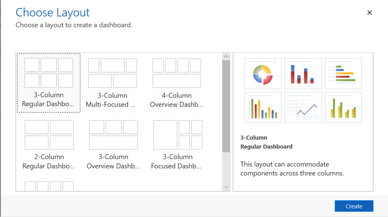 Start your day with a dashboard or chart | Microsoft Docs