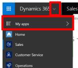 Dynamics 365 app switcher