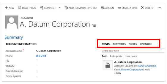 Keep track of activities in Dynamics 365