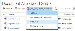 Choose a document location