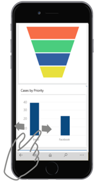 Dynamics 365 for phones how to zoom