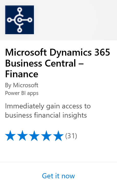 business central and power bi content packs business central