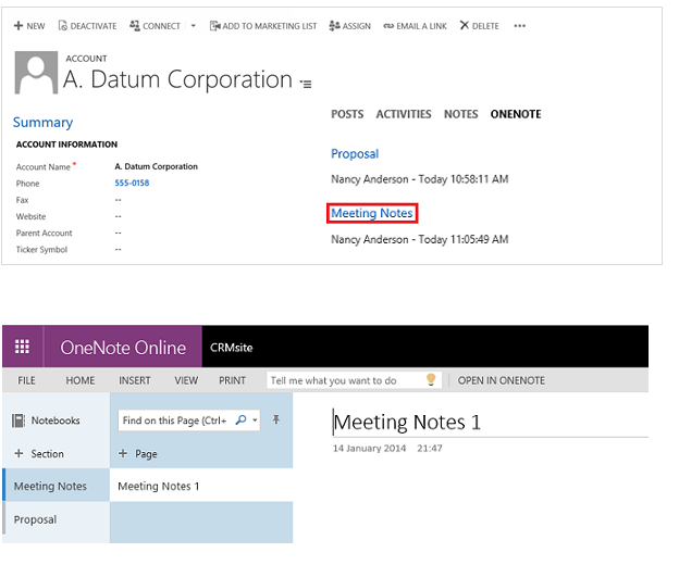 Add Meeting Notes in OneNote