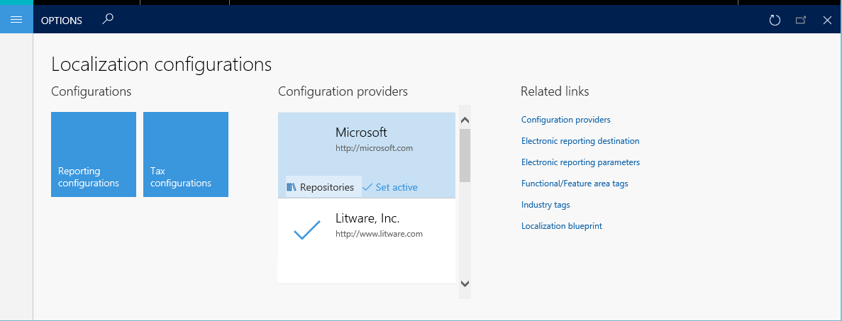 Download Electronic Reporting Configurations From Lifecycle Services