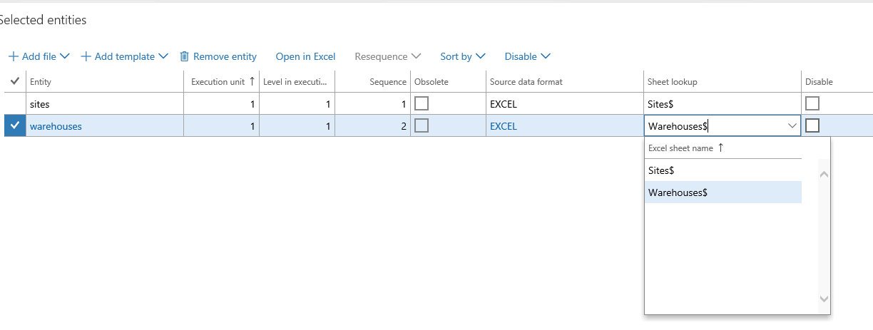 Import Data From Excel Data Entity Templates That Have Multiple