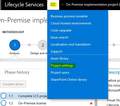 Set up and deploy on-premises environments (Platform update