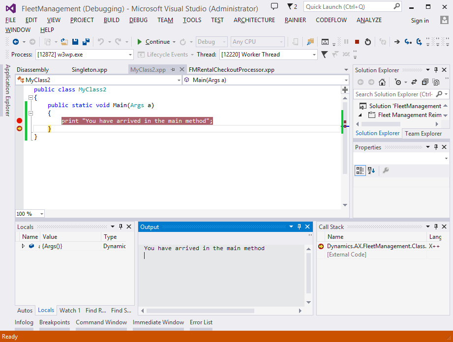 X++ and debugger features - Finance & Operations | Dynamics 365