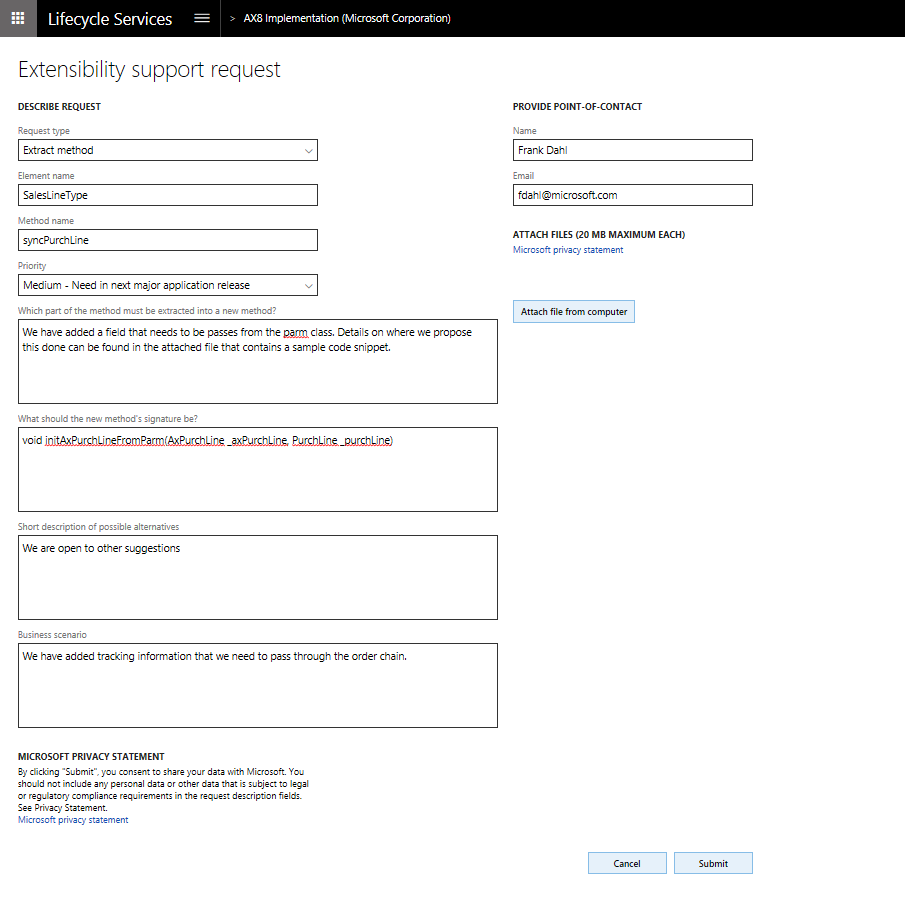 Extensibility requests - Finance & Operations | Dynamics 365