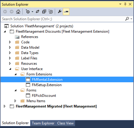 Customize model elements through extension - Finance & Operations