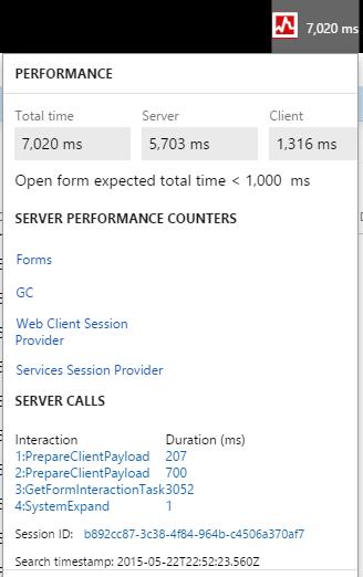 Performance timer - Finance & Operations   Dynamics 365