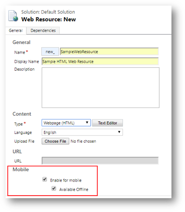Create web resources and IFrame content for use with the Dynamics