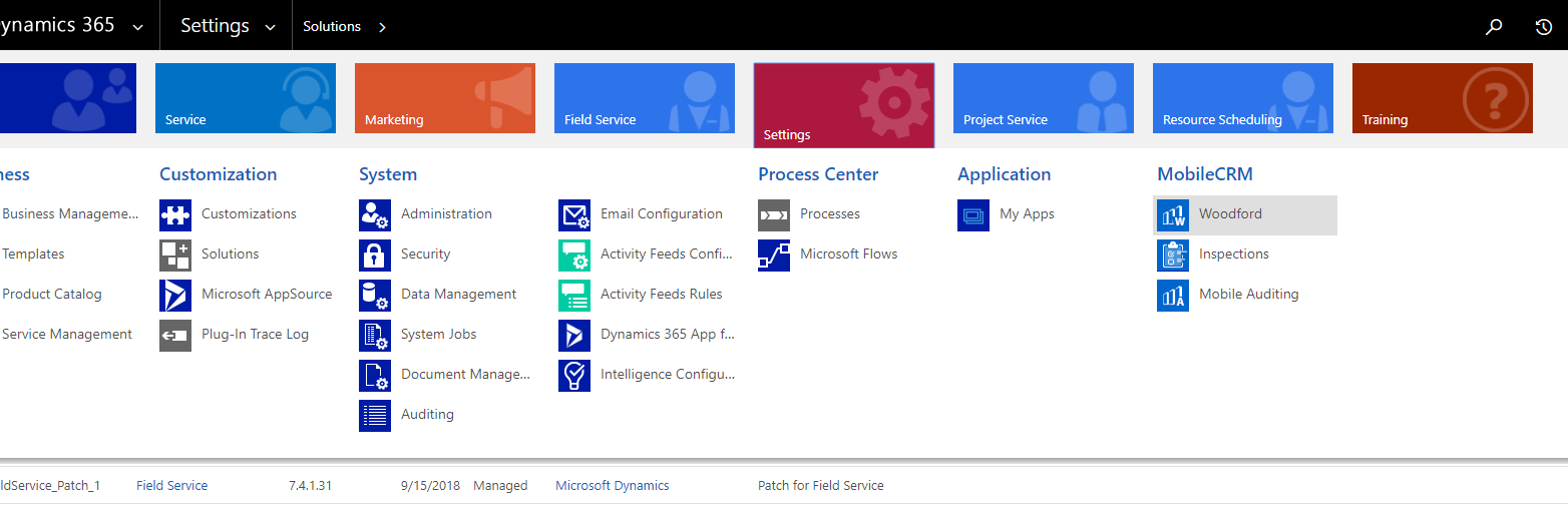 Install Dynamics 365 for Field Service (Dynamics 365 for