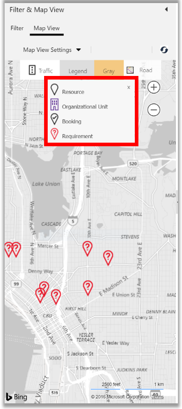 Schedule board filter and map view in Dynamics 365 field service
