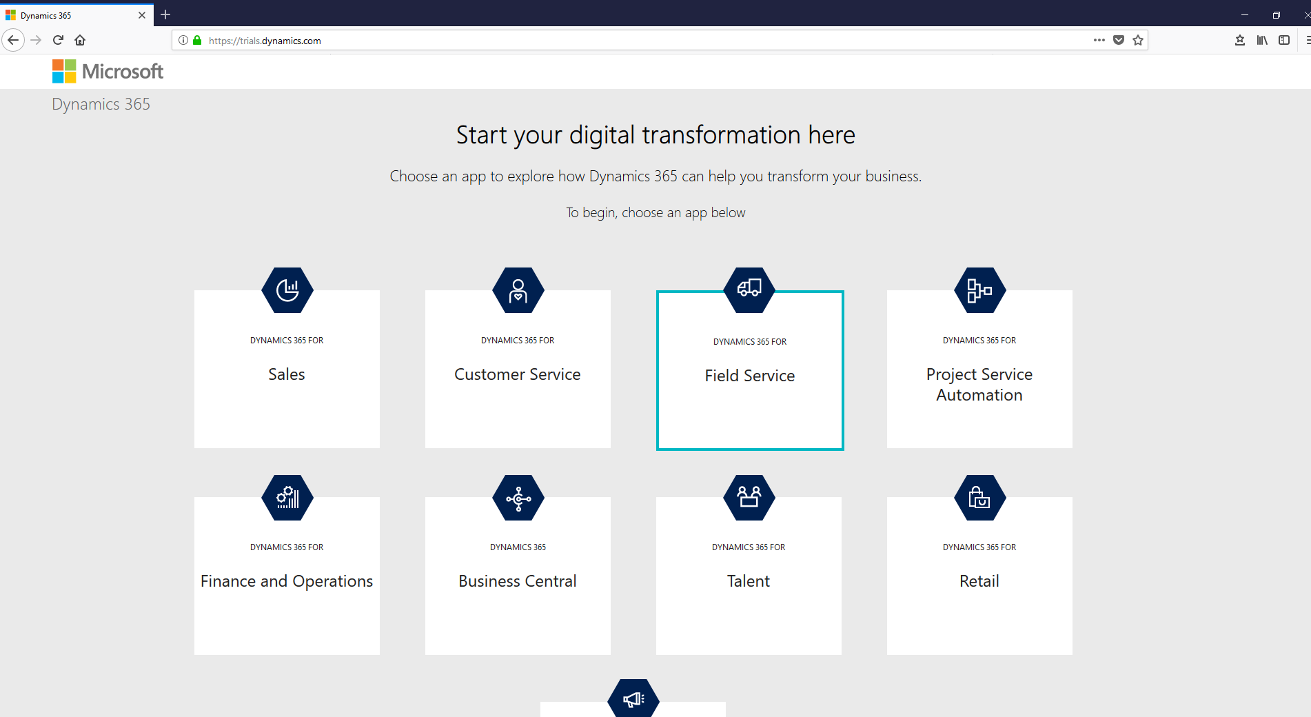 Install Dynamics 365 for Field Service (Dynamics 365 for Field