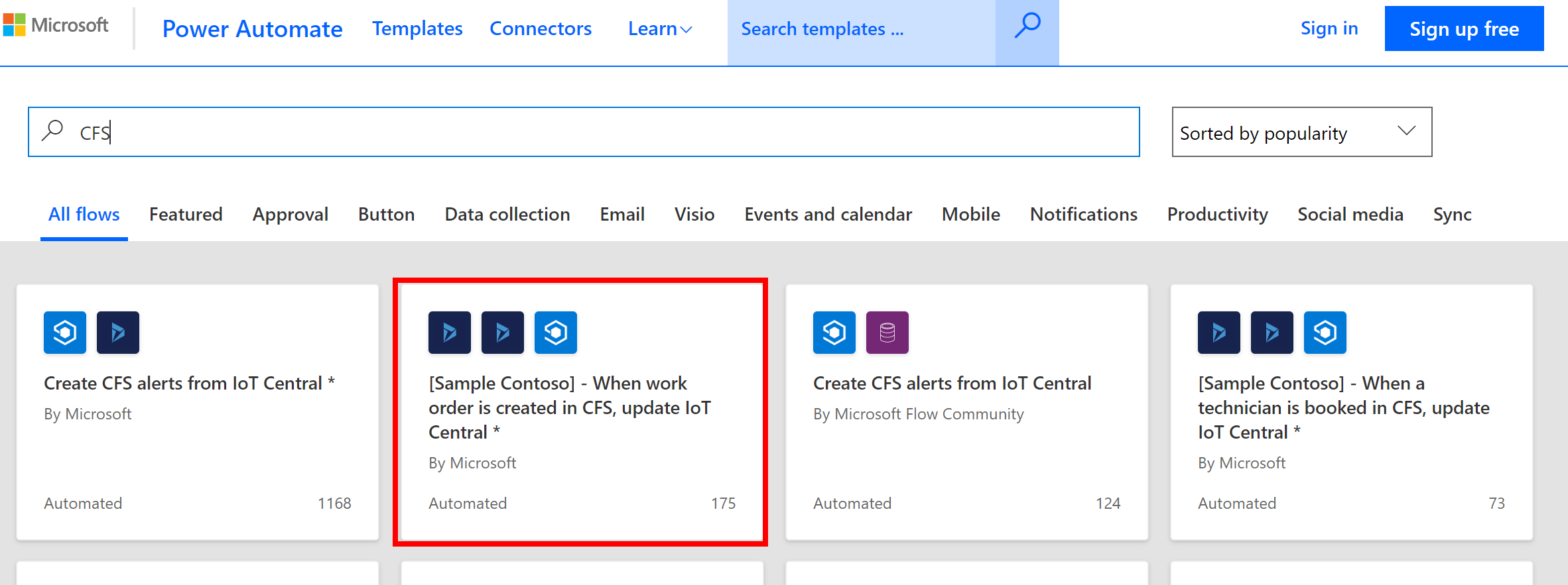 Send work order updates to IoT Central | Microsoft Docs