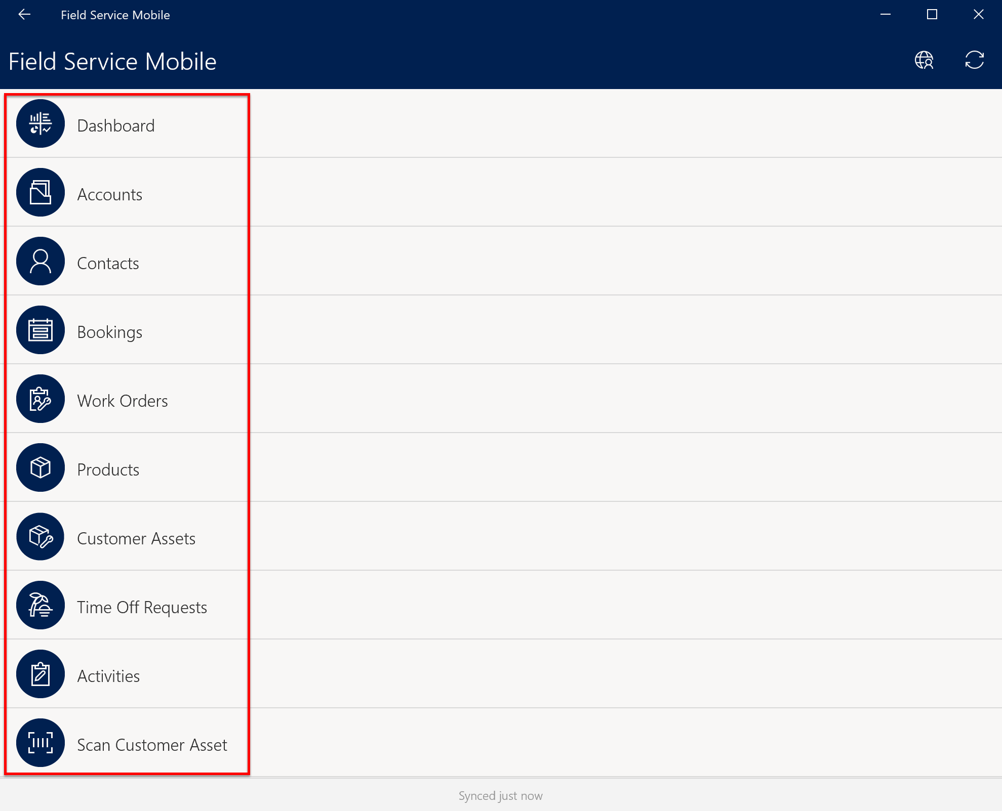 Customizations and configurations for the Field Service mobile app