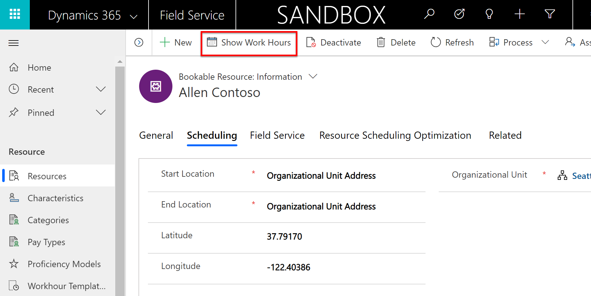 Set up bookable resources (Dynamics 365 for Field Service