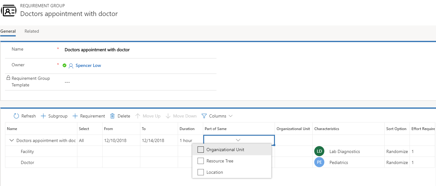Facility scheduling with Universal Resource Scheduling | Microsoft Docs