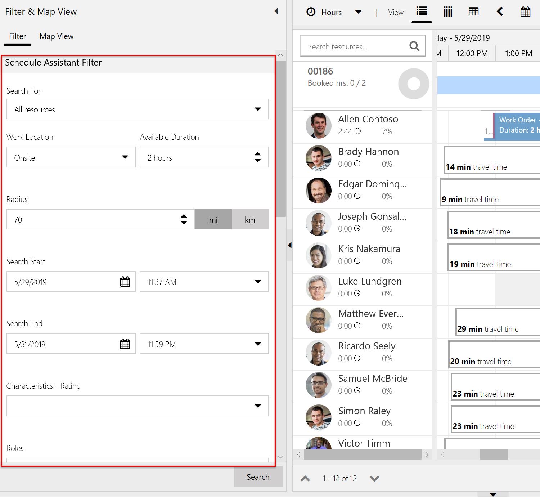 Schedule board tab settings for Field Service   Microsoft Docs