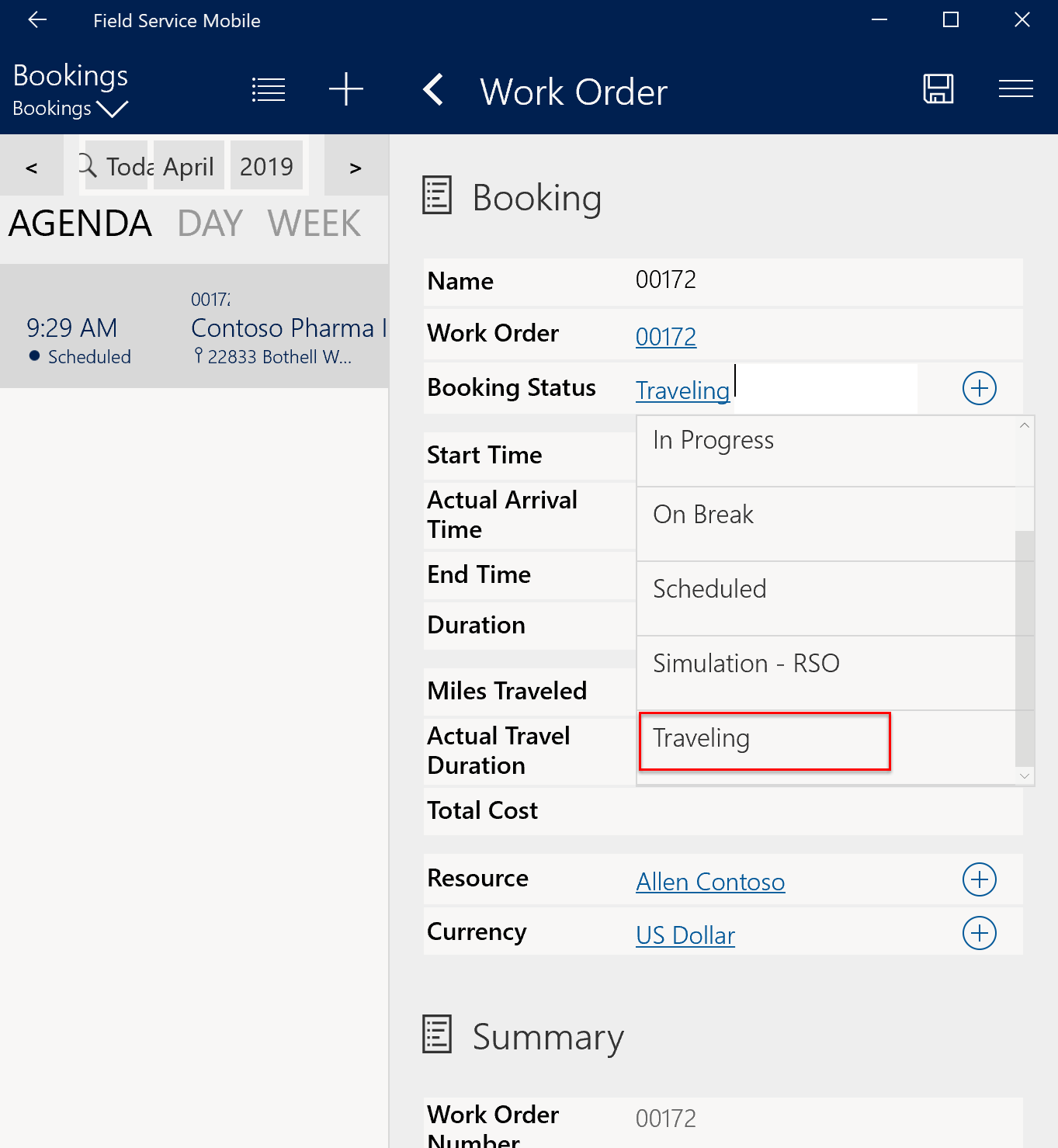Work order and booking statuses | Microsoft Docs