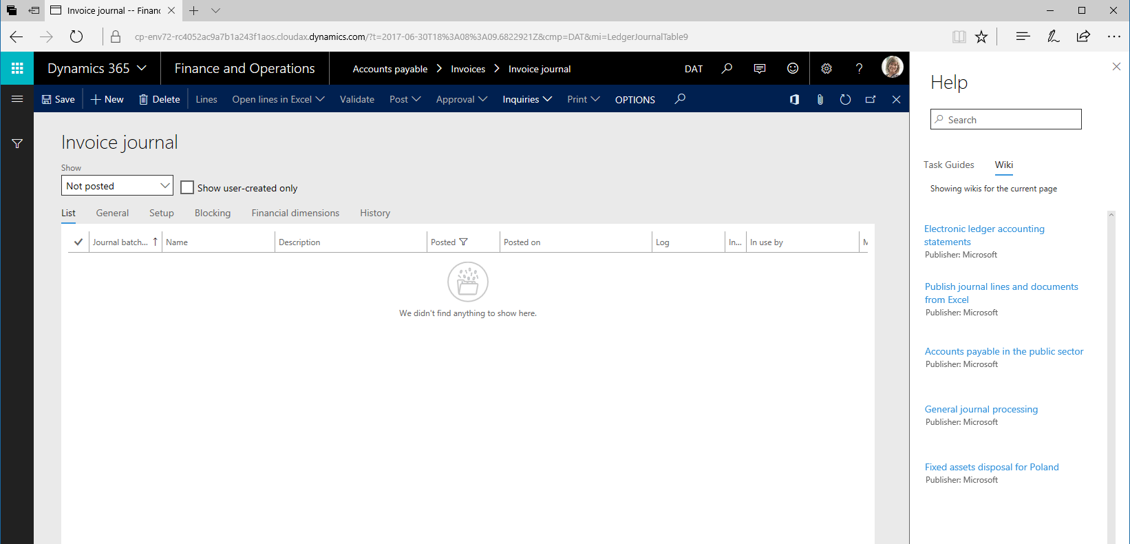 Help overview finance operations dynamics 365 msdyn365fo help pane baditri Gallery