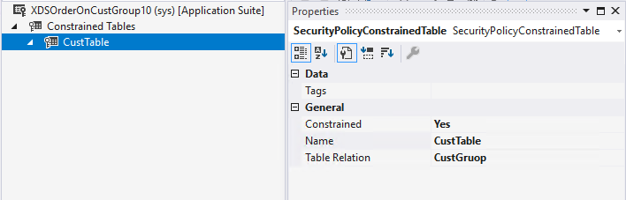 Add constrained tables