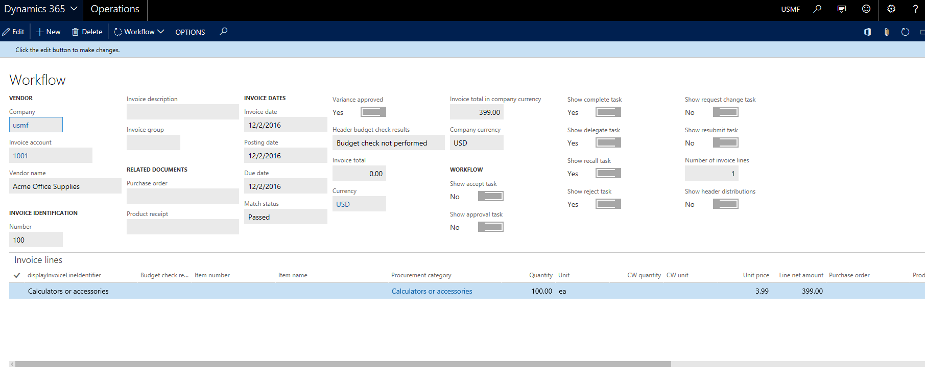 mobile invoice approvals finance operations dynamics 365