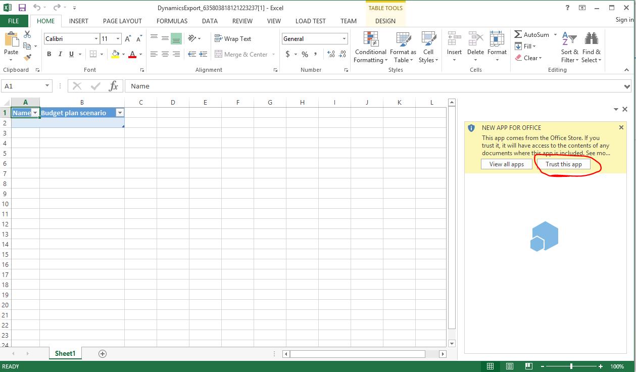 budget planning document
