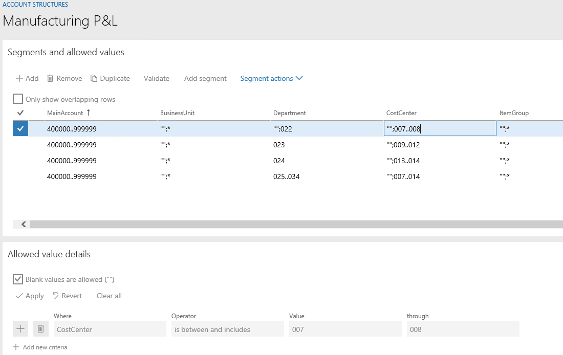 Configure account structures - Finance & Operations | Dynamics 365