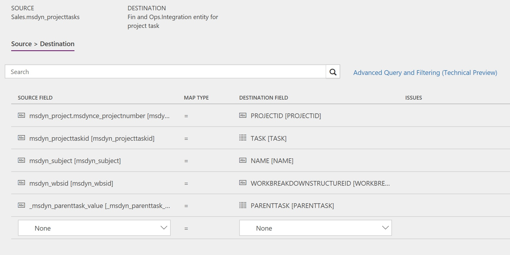 synchronize project tasks directly from project service automation