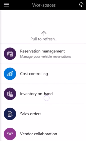 Project time entry mobile workspace - Finance & Operations