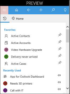 Outlook app sitemap