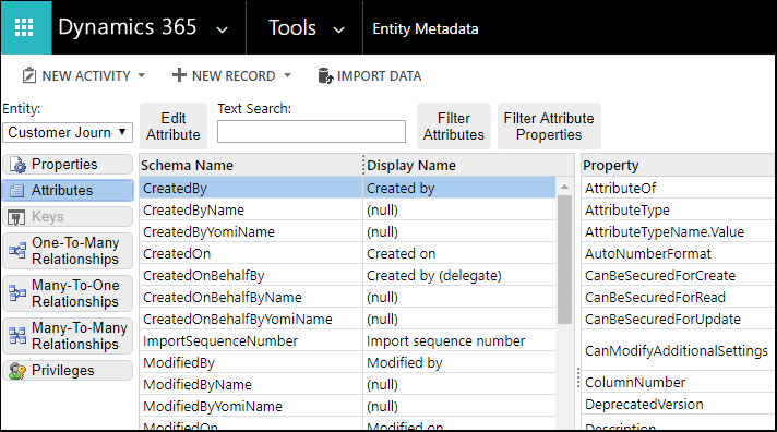 Dynamics 365 for Marketing entity reference (Dynamics 365