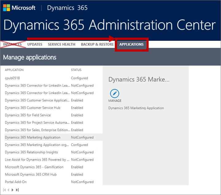 Set up Dynamics 365 for Marketing | Microsoft Docs