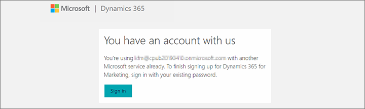 Sign up for and install a free trial (Dynamics 365 for Marketing
