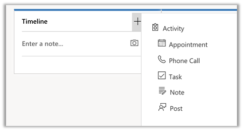 Dynamics 365 for phones and tablets add an activity