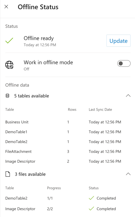 Work offline with Dynamics 365 for phones and tablets