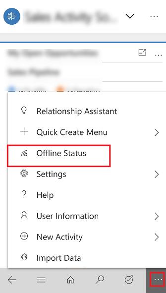 Mobile Offline Status