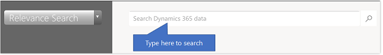Dynamics 365 for phones and tablets Relevance Search