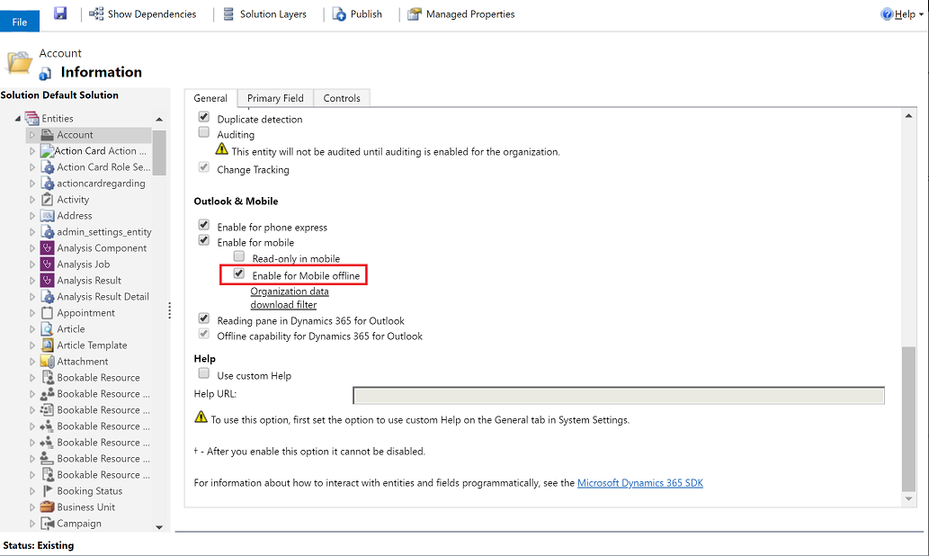 Configure mobile offline synchronization in Dynamics 365 for