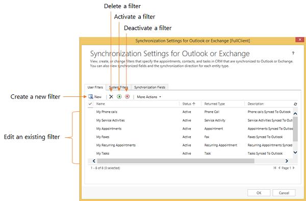 Online synchronization filters