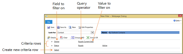 Sync or offline filters criteria grid in Dynamics 365
